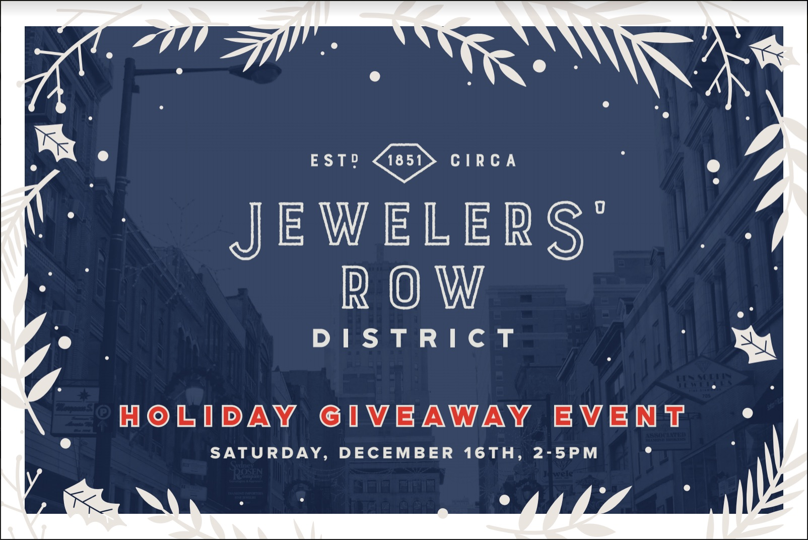 JRow Holiday Invite Postcard - Front